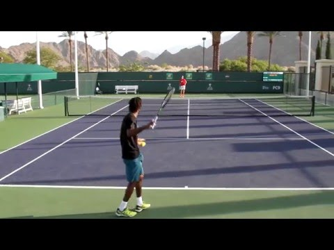 Gael Monfils Practice 2016 BNP Paribas Open Indian Wells