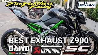 Best Exhaust Sound Kawasaki Z900 | Akrapovic | DAIVO | Sc Project | Two Brothers |