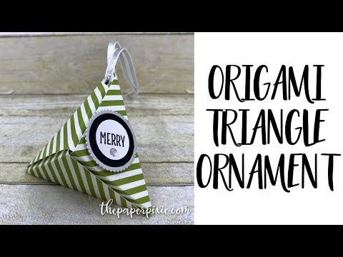 Origami Triangle Ornament