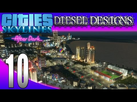 Cities: Skylines: After Dark:S7E10: Mega Sports Facility! (City Building Series 1080p)