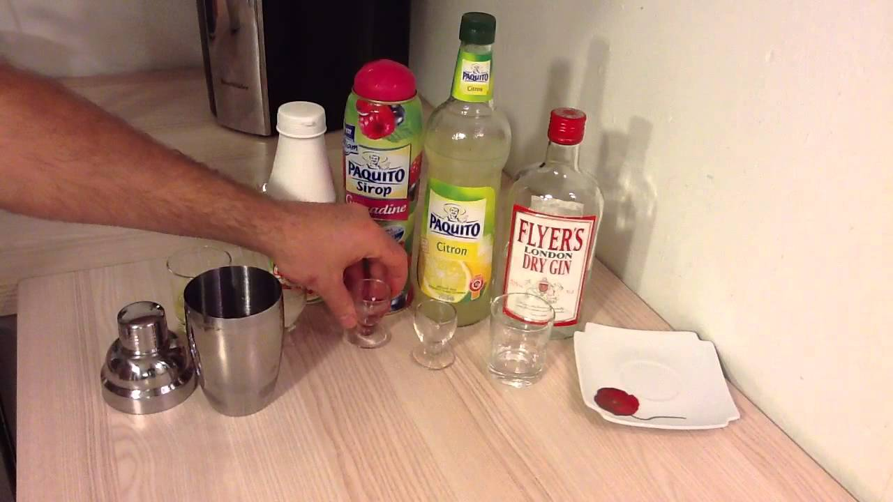 Cocktail au shaker rhum