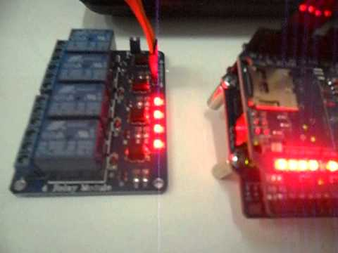 android wifi control arduino + relay module 4 ch