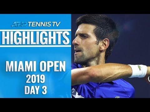 Djokovic cruises as Kyrgios stars; Thiem crashes out   Miami Open 2019 Day 3 Highlights