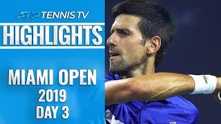 Djokovic cruises as Kyrgios stars; Thiem crashes out | Miami Open 2019 Day 3 Highlights thumbnail