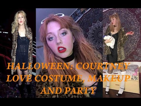 What i did on Halloween: Makeup, Party, Courtney Love Costume