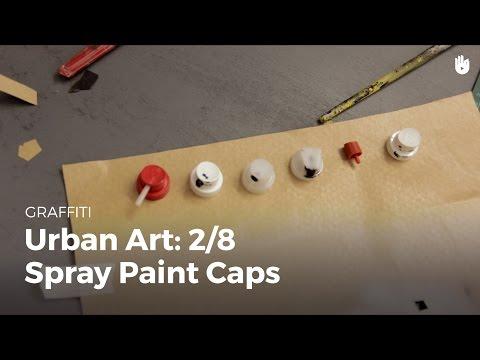 Urban art: spray paint caps