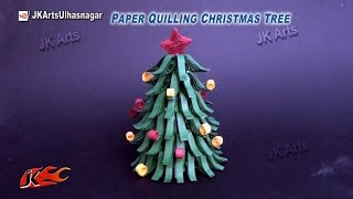 Paper Quilling Christmas Tree | DIY How to make Christmas decorations | JK Arts 805