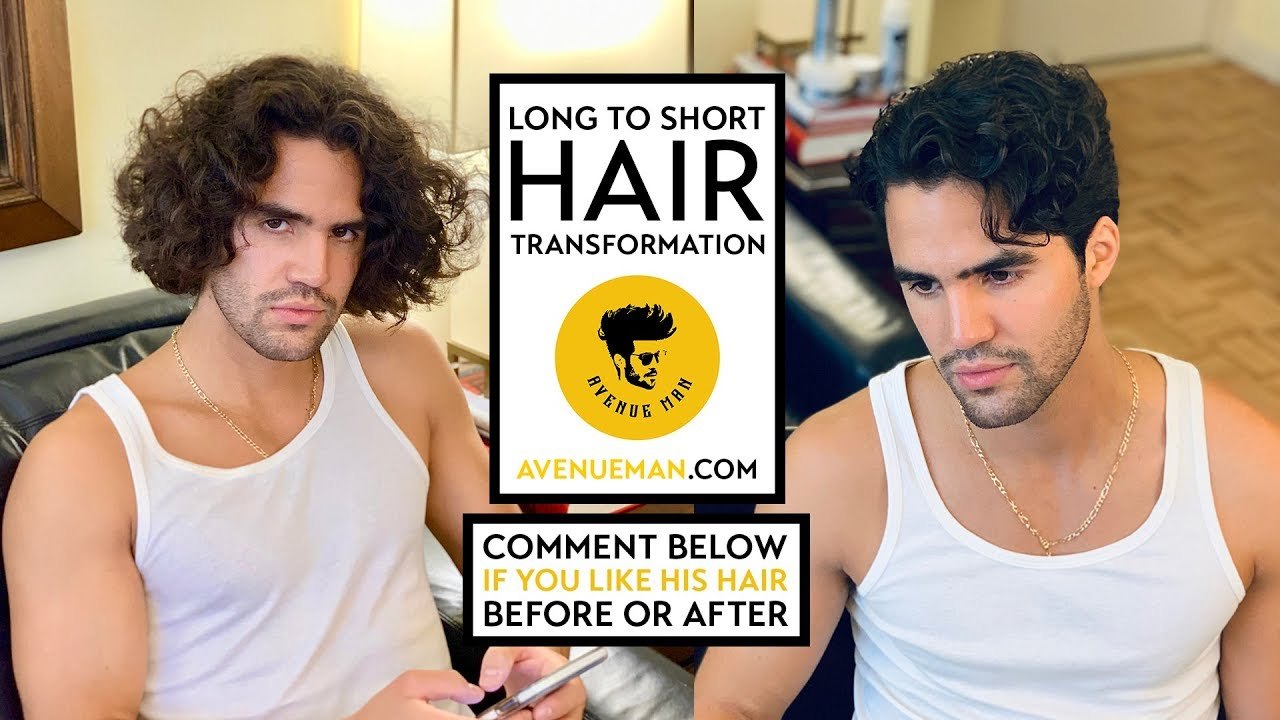 Men S Wavy Long To Short Hair Transformation Hairstyle With Avenue Man Hair Products Youtube