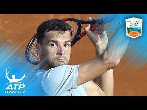 Amazing athleticism from Grigor Dimitrov in Monte Carlo!