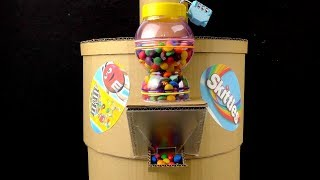 How To Make Trash Can Machine Which Gives Skittels For Garbage