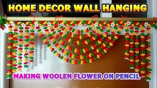 DIY woolen craft/Door hanging for home decor