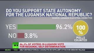 E.Ukraine referendum: Report from Donetsk as landlslide supports self-rule