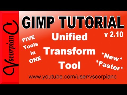 GIMP Tutorial - (v 2.10) New 5 in 1 Transform Tool by VscorpianC