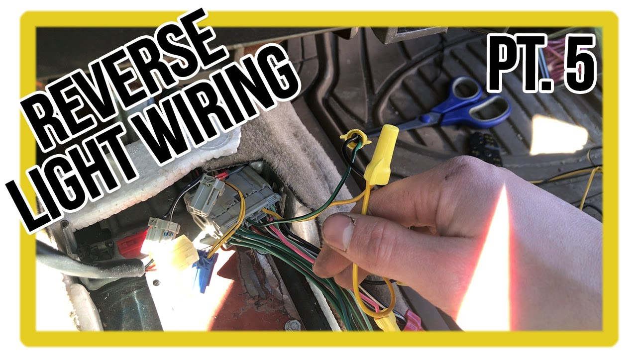 maxresdefault acura integra build part 5 reverse light sensor wiring how to Factory Car Stereo Wiring Diagrams at bayanpartner.co