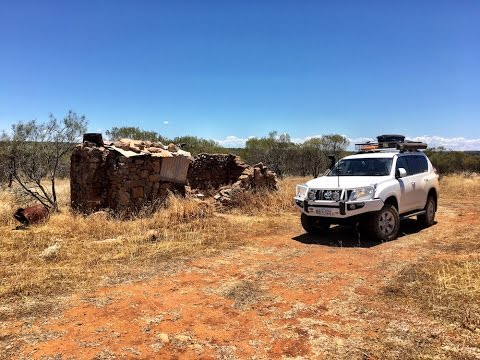 Exploring old ruins in the Murchison