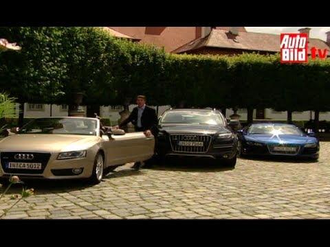 Audi R8, Audi Q7 und Audi A5 Cabrio im Vergleich