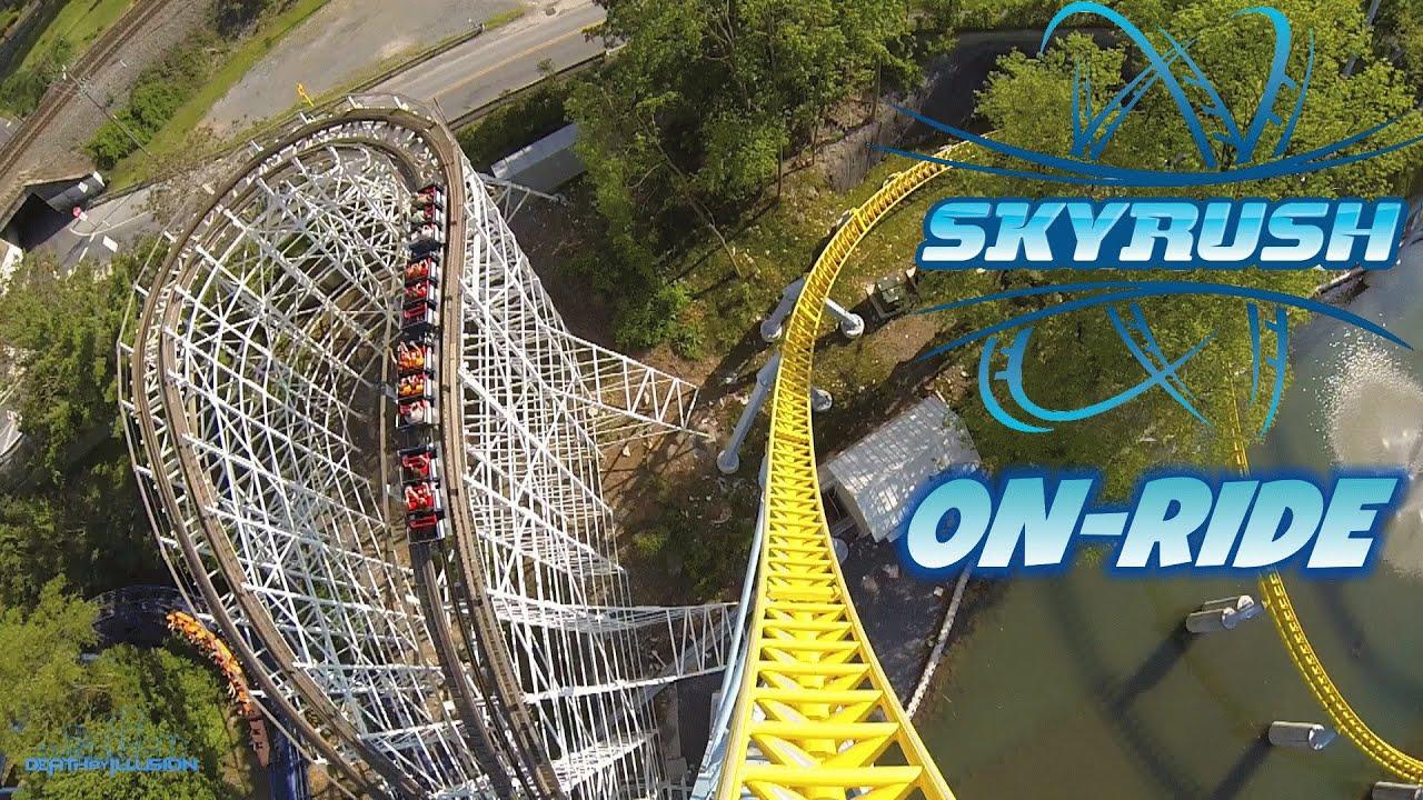 Skyrush On Ride Front Seat Hd Pov Hershey Park Youtube