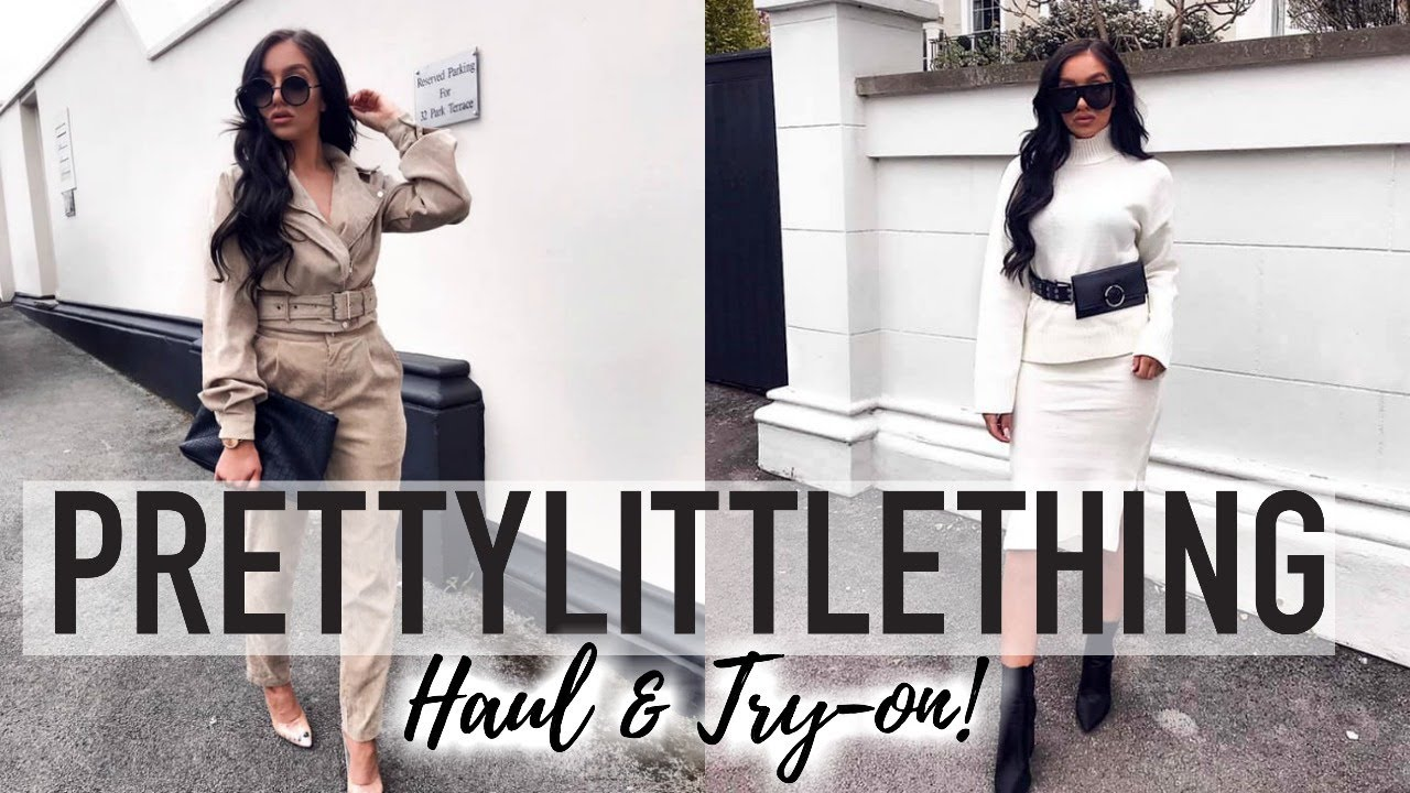 THE BIGGEST PRETTY LITTLE THING HAUL! // SPRING OUTFIT IDEAS 1