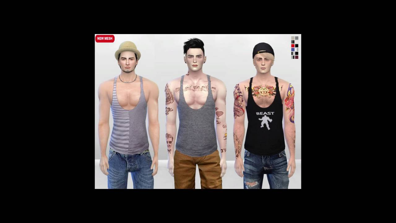 The Sims 4 Male And Female Clothing Cc Pack Youtube