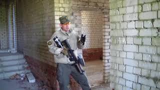 Обучение стрельбе из за угла при штурме здания.