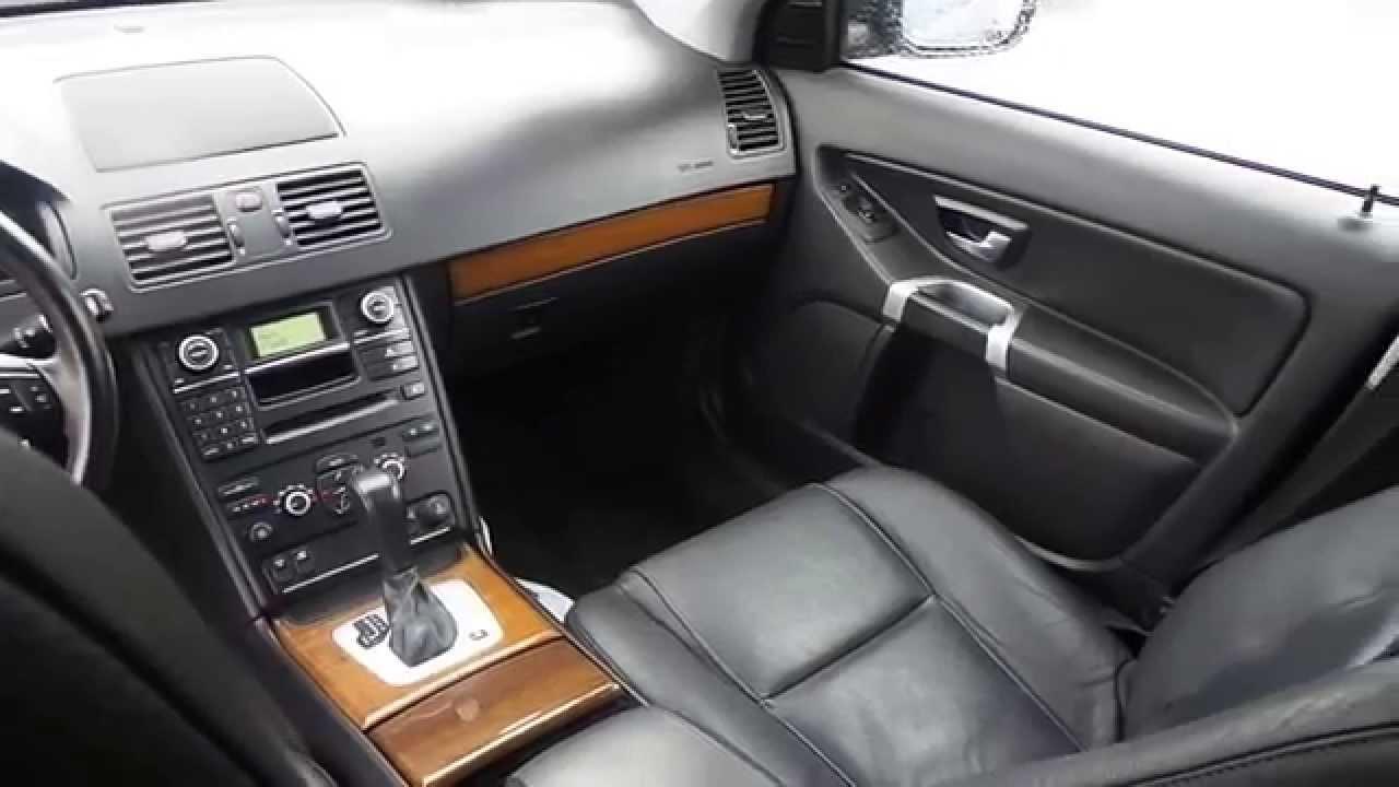2008 volvo xc90  black - stock  13486p - interior