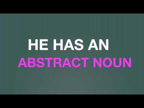 The Abstract Noun Song