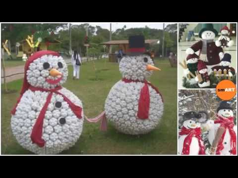 country christmas decorating ideas snowman christmas decorations - Country Christmas Decorations