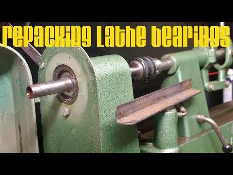 Repacking the Ramator wood-lathe bearings