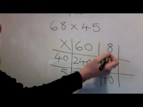 Multiplying Two 2 Digit Numbers Using Grid Method Ks2 Ks3 Youtube