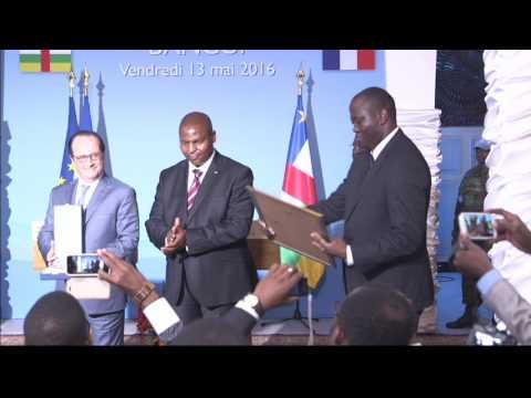 Visite du président français François Hollande à Bangui
