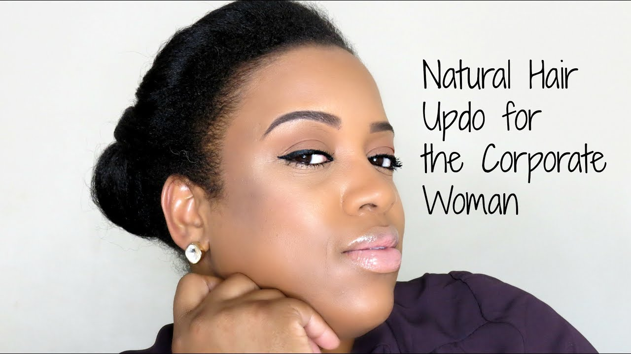 natural hair style work hairstyle