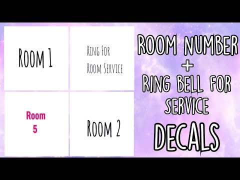 Roblox Bloxburg - Room Number + Ring bell for service Decal Id's