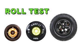 Baixar HOW FAR WILL IT ROLL? Evolve Skateboard Wheel Test - 83mm, 107mm, AT
