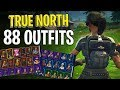 True North Back Bling on 88 Outfits | Trailblazer Twitch Prime Loot - Fortnite Cosmetics