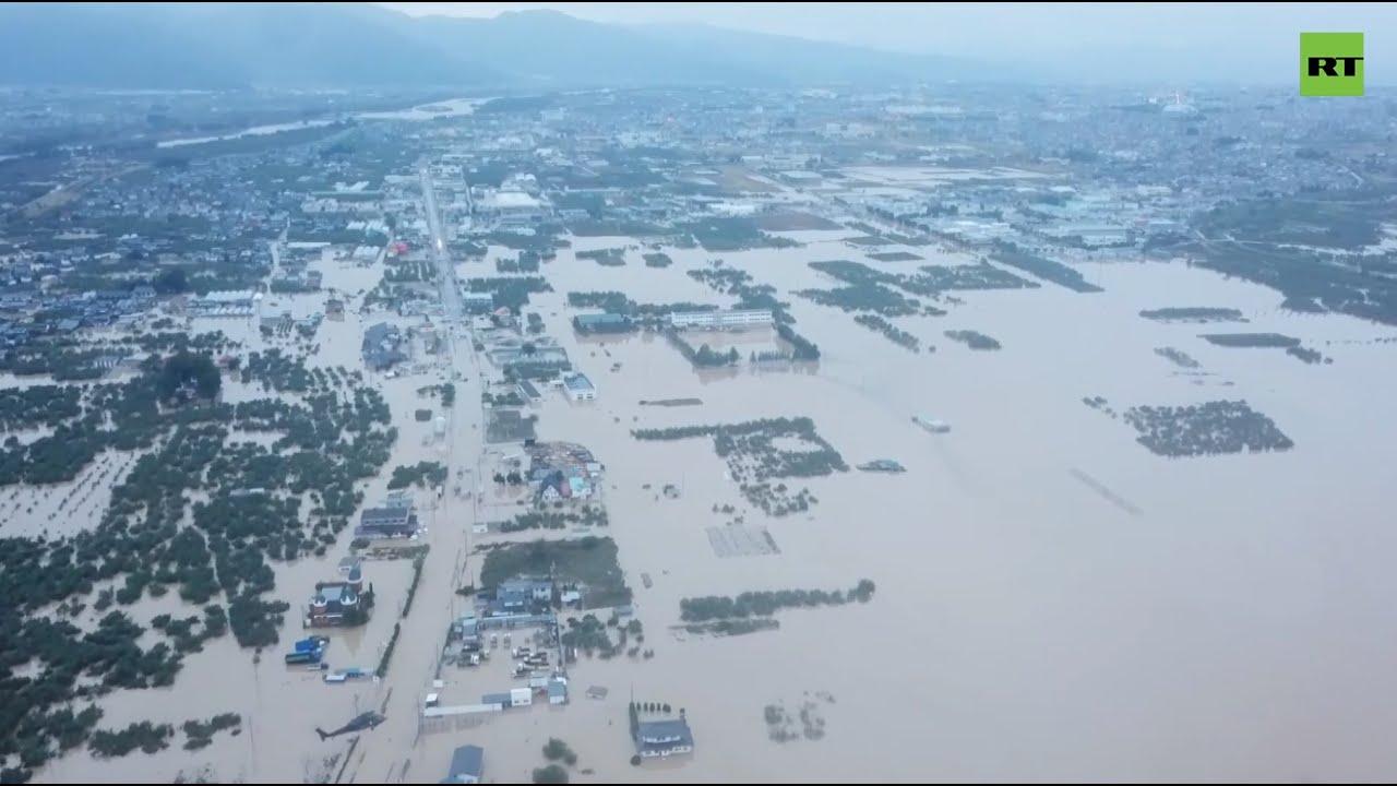 Последствия тайфуна «Хагибис» с высоты птичьего полета