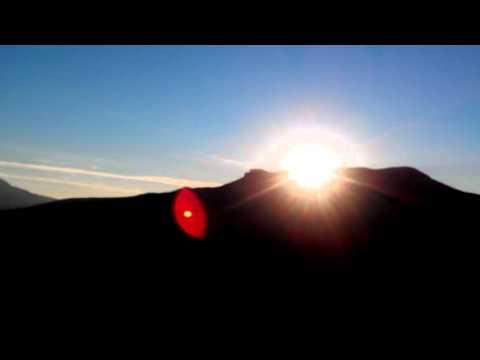 Закат солнца в горах