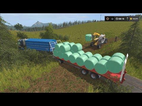 Selling bales and potatoes | Small Farm | Farming Simulator 2017 | Episode 38