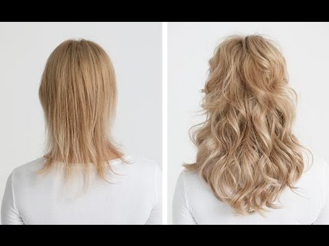 clip in hair extensions for thin hair - youtube