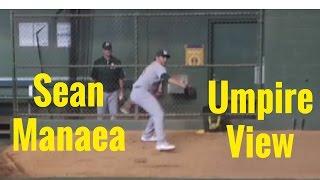 Sean Manaea Bullpen UMPIRE VIEW