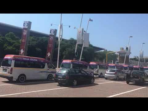 Taxi parade through Durban CBD