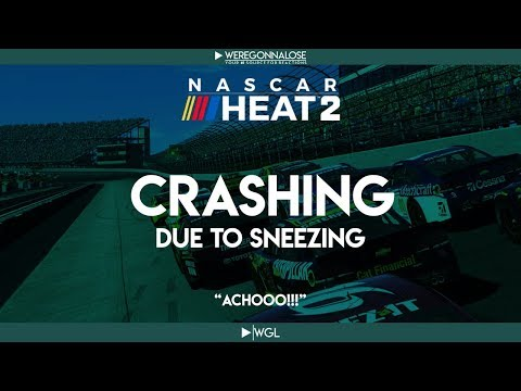 Trolling Nascar Heat 2 – Crashing Caused by Sneezing and Allergies – Nascar Crashing Reactions