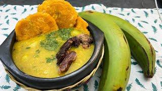 sopa de patacón - como hacer sopa de patacones deliciosa fácil y rápida - como hacer una sopa casera