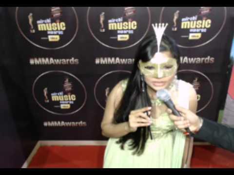 Singer Chinmayi Sripada's #MirchiVelfie challenge -Mast Magan in 6 seconds at #MMAwards