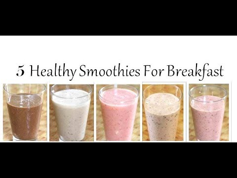 5 Healthy Breakfast Smoothies For Weight Loss ,Glowing Skin And Shiny Hair|RJ Payal's Kitchen