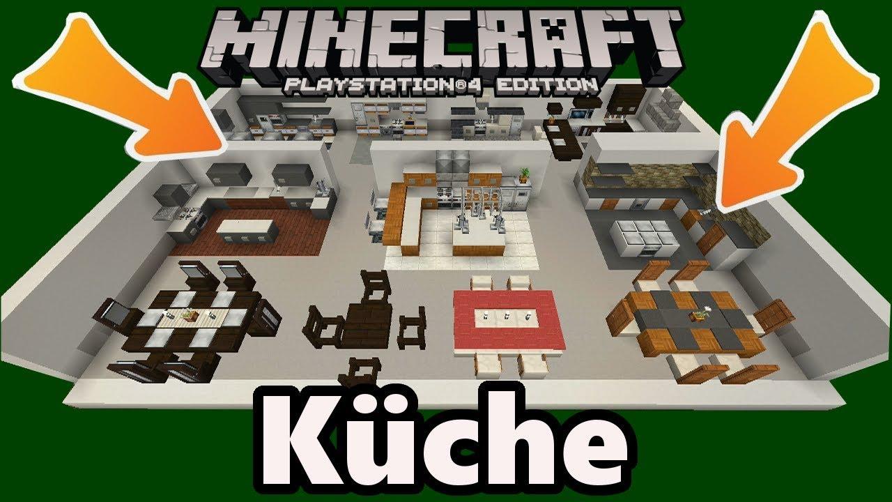 Minecraft Kuche Einrichtung Deko Designs Gegenstande Youtube