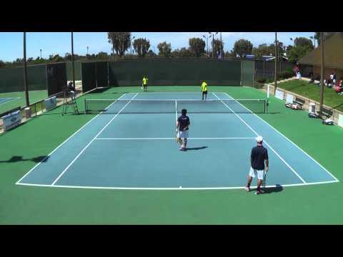 05 26 2012 CIF Boy's Tennis Double's Finals at Seal Beach Tennis Center
