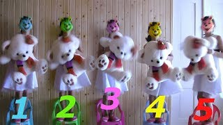 Learn count With Five Little Babies And Five Little Teddy Jumping On The Chair Good songs For Kids