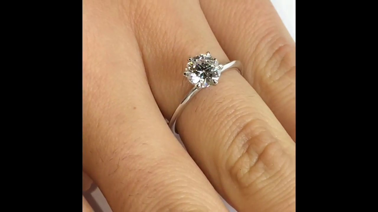 1 carat Round Diamond Engagement ring YouTube
