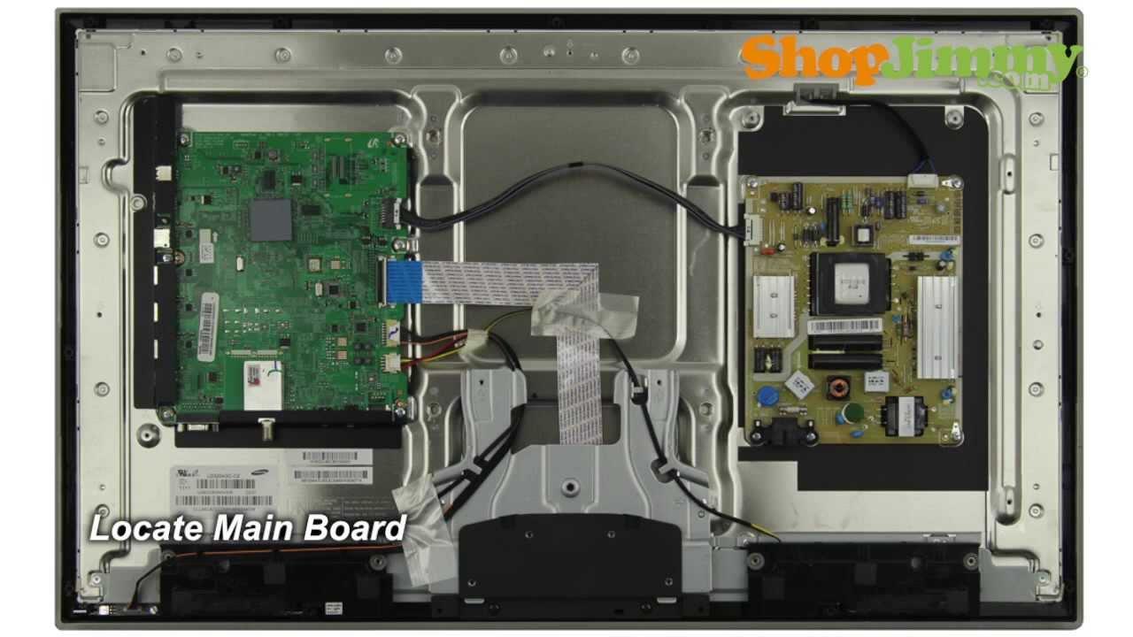 Samsung TV Repair Tutorial  Replacing Main Board in Samsung UN32D4000NDXZA TV  How to Fix LED