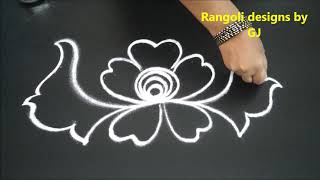 latest creative arts rangoli designs | easy and simple kolam without dots | new muggulu patterns